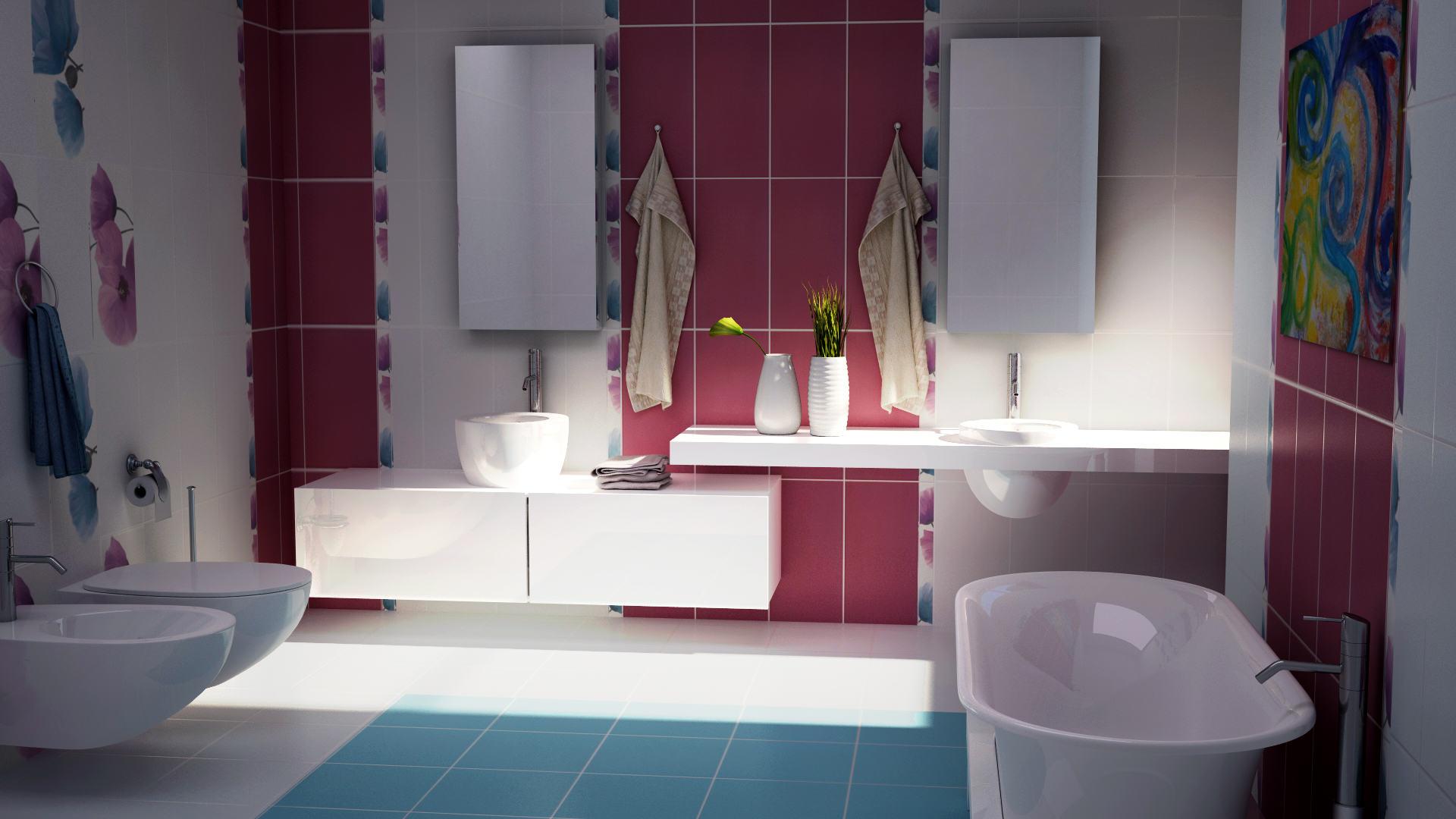 Визуализация на интериор на баня