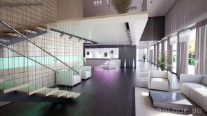 Visualization of the interior design of the lobby bar