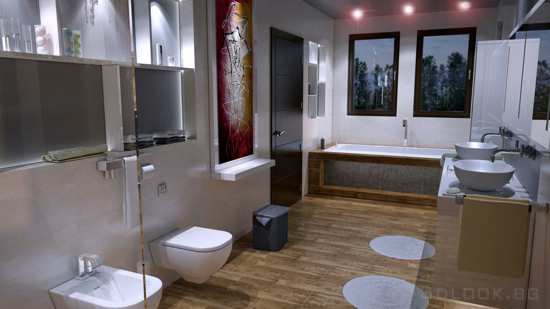 Природата в интериора на една баня