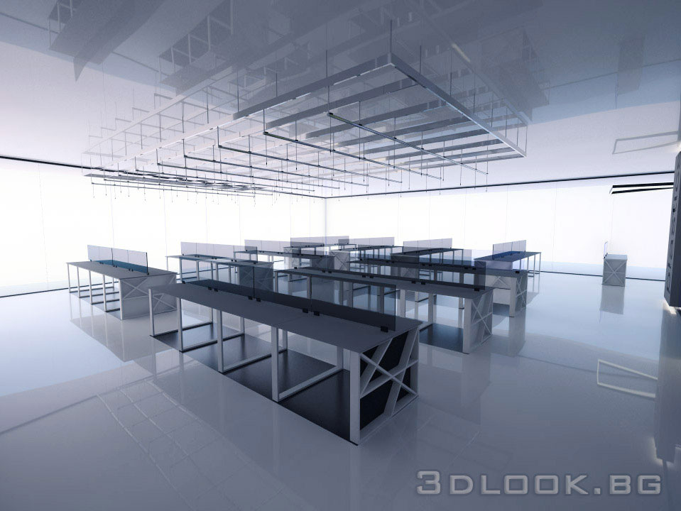Desgin and visualization of office open space
