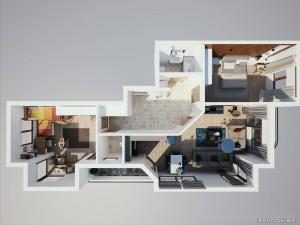 интериорен дизайн поглед отгоре