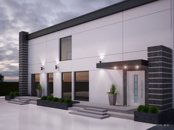architectural visualization of house view 1