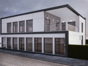 architectural visualization of house view 3