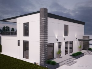 architectural visualization of house view 2