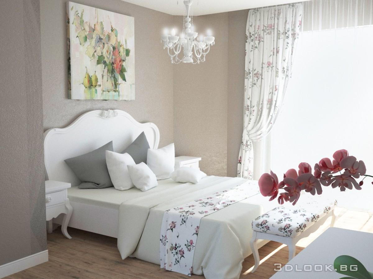 3d интериор на спалня