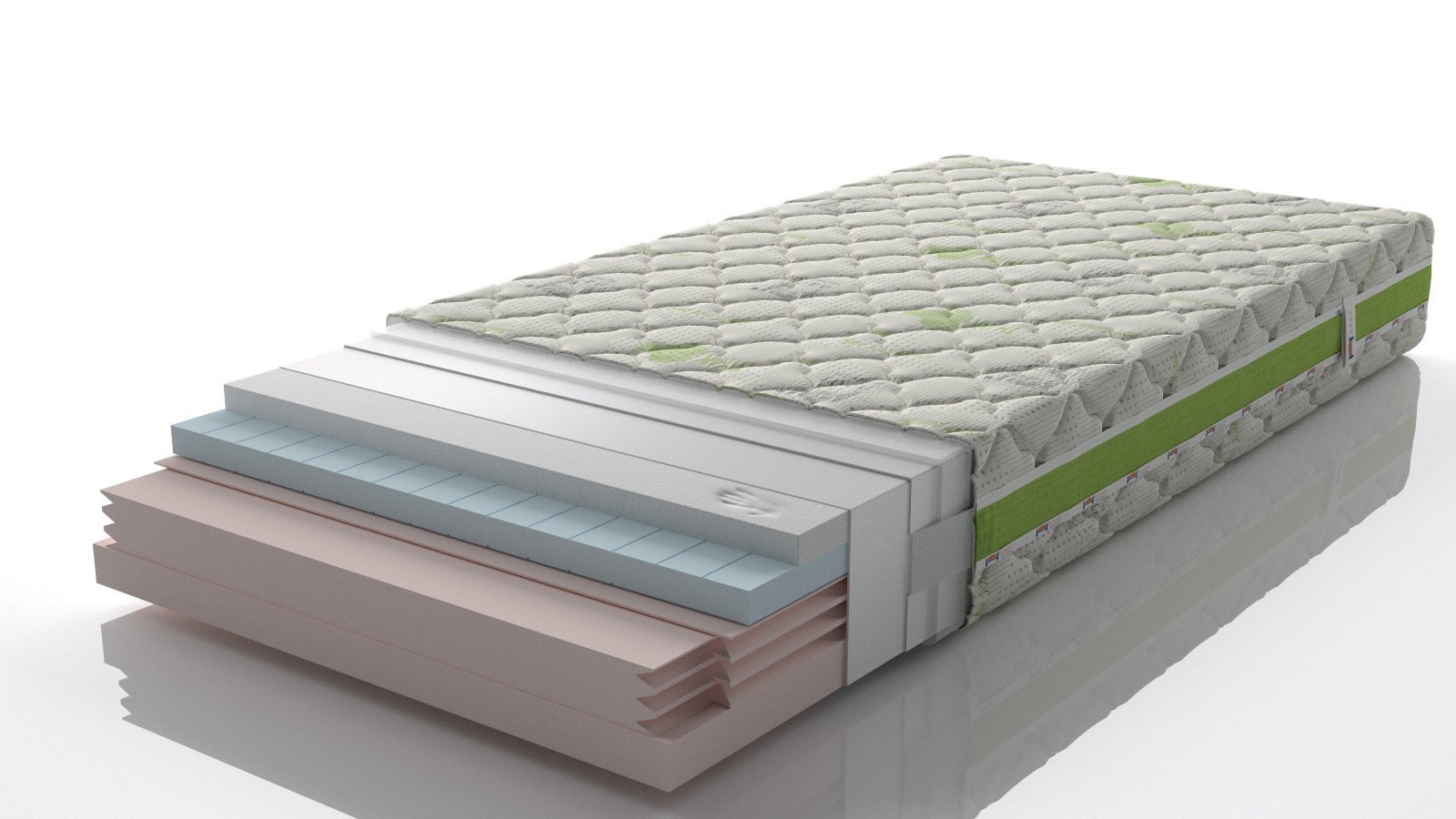 sectional view of the mattress