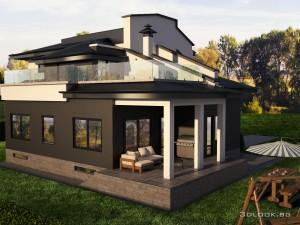 3д архитектура на къща